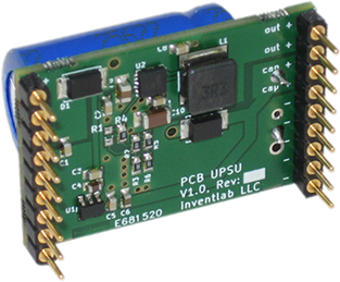 PCB UPSU - Maintenance-free Supercapacitor-UPS for PCB Mounting